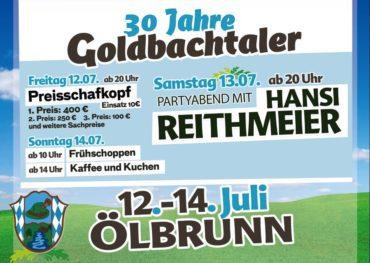 30 Jahre Goldbachtaler